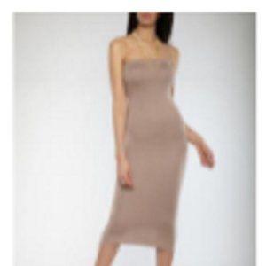 RainbowShops.com Mid Length Tube Dress, Stone Sz S